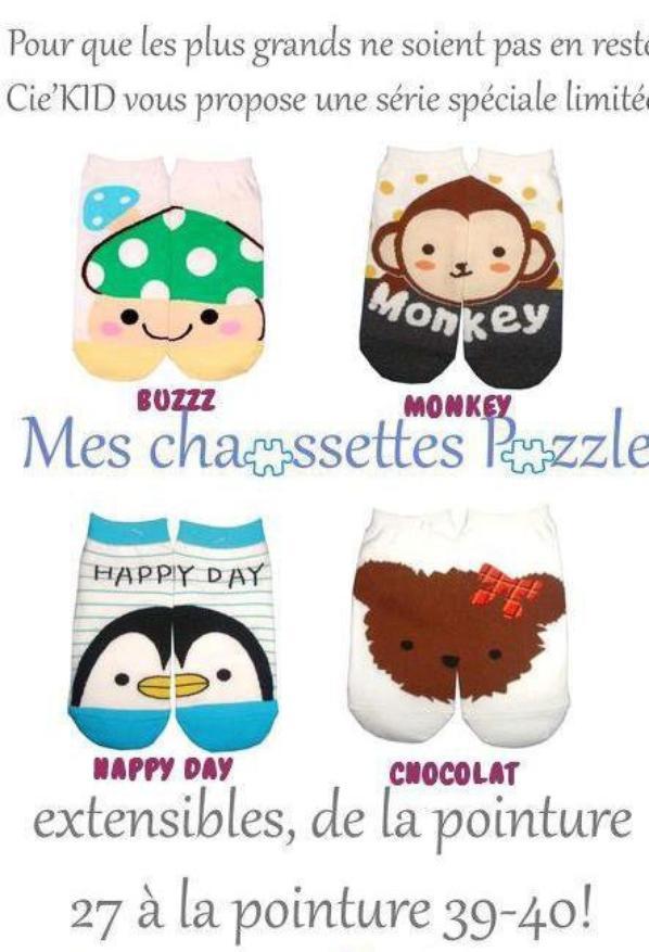 Chaussettes puzzle EXTENSIBLES !