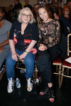 Josiane Balasko, Rudy Berry, Laura Smet au défilé Jean Paul Gaultier collection haute couture automne-hiver 2015/2016