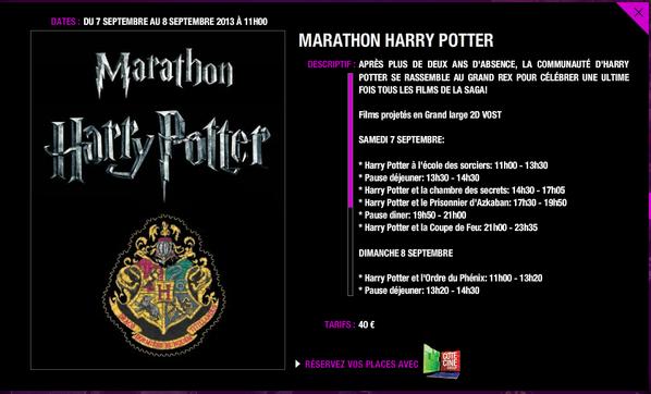 Marathon Harry Potter au Grand rex