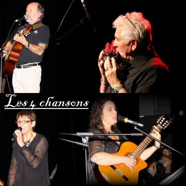 """le groupes  des 4 Chnasons depuis Novembre 2006 soutien l'association gisc """"Reservoir d'Artistes"""