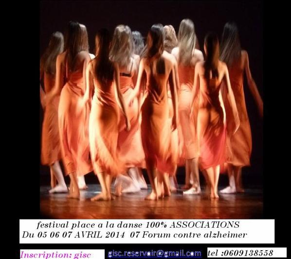 FESTIVAL PLACE A LA DANSE 100% ASSOCIATIONS  du 05 06 07 Avril 2014