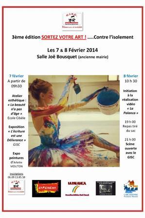 rencontre à 12H00 avec les partenaires qui participent  à Sortez votre ART  Mardi 04 Février 2014 gisc.reservoir@gmail.com