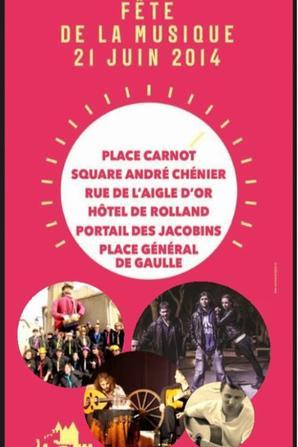 Fête de la Musique Place Carnot  Samedi 21Juin 2014 :GISC:  RÉSERVOIR D'ARTISTES 2014 Dont la mission principale  Actions Humaines et  solidaires Et tu Montes sur Scène !