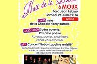 """lakhdar slam a Moux à la 12 nuit de la Poésie  le Samedi 26 Juillet 2014 à partir de 16H00 """"Scène ouverte"""