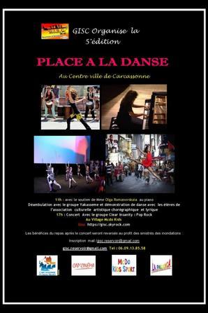 GISC /Réservoir d'Artistes  organise   Organise    5 édition « Place à la Danse à Carcassonne    Et  Concert à André Chénier  «  Village Macdo-kids Sport » : Samedi 11 juin 2016