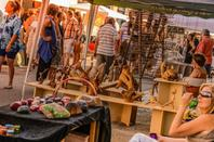 JAZZ O CANAL 2019 . Au port de Carcassonne ,Marché des createurs , Nettoyons les berges du Canal du Midi .