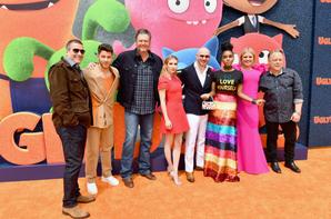 _ 27.04.2019   Nick était à l'avant-première du film Ugly Dolls  au Regal Cinema de Los Angeles :