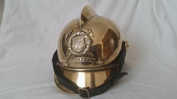 Casque pompier 1870 Alsace Lorraine
