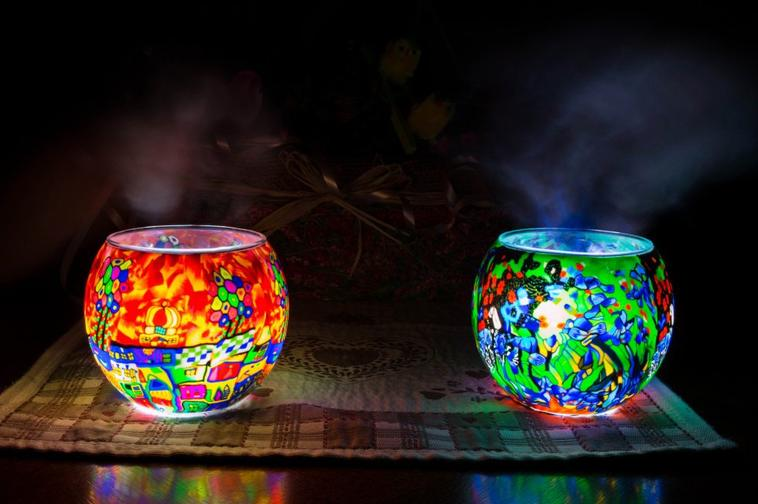 nature morte with light-painting