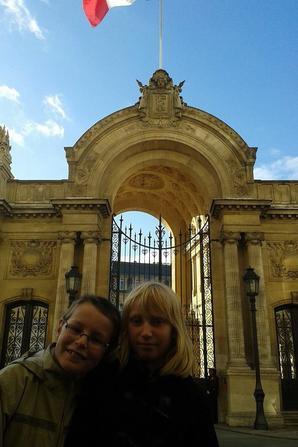 jolie PARIS avec mes petits enfants