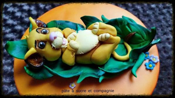 Mon Gateau Decore Sur Le Theme Du Roi Lion De Disney Simba