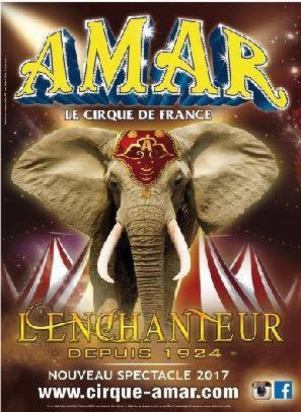 Toutes les nouvelles affiches du cirque Amar 2017