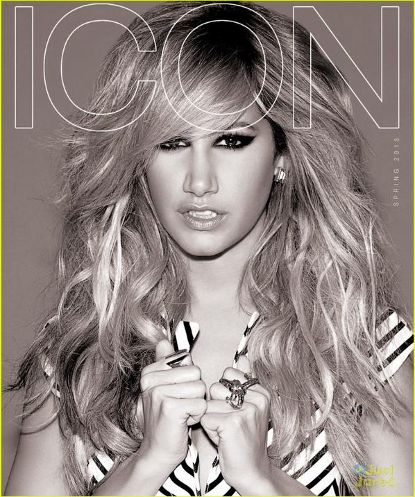 Ashley Tisdale Covers 'Icon' Magazine Spring 2013
