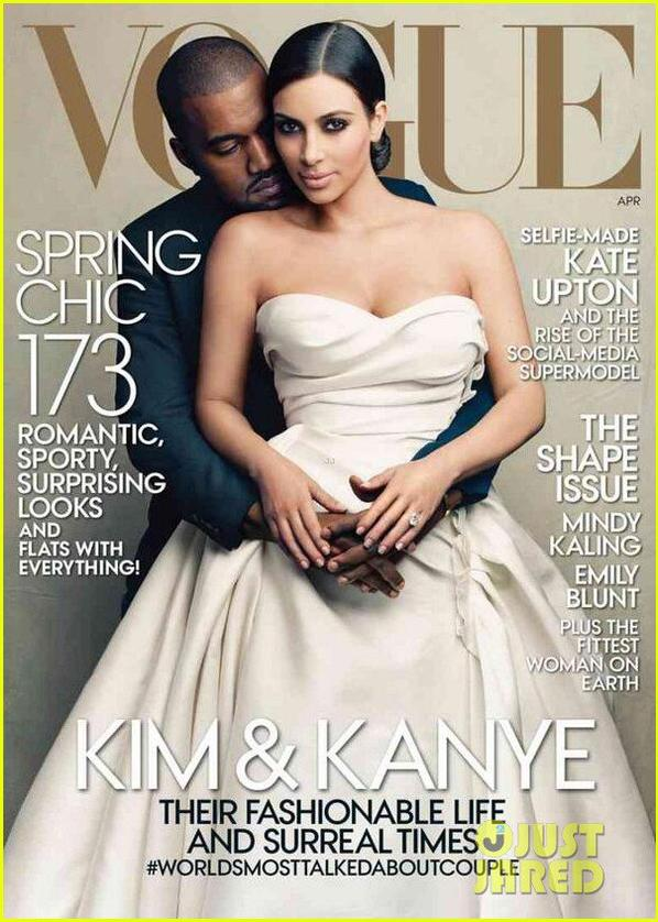 Kim Kardashian Covers 'Vogue' with Kanye West