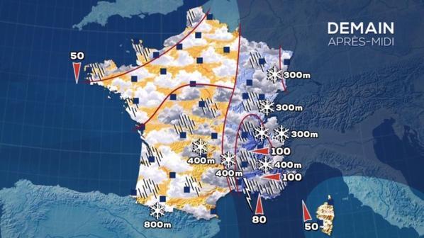 Offensive hivernale : chutes de neige en plaine dès ce jeudi, 3 départements en alerte