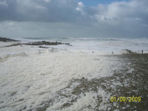 de la niege avec du sel de mer