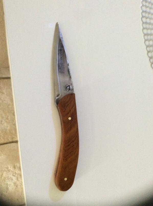 Couteau avec bois exotique