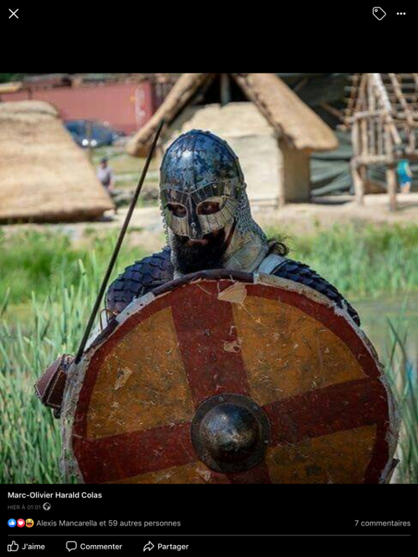 Casque viking  et son  viking