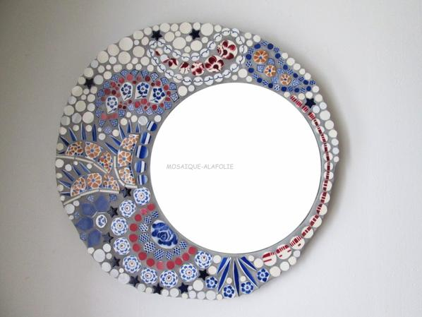 Miroir picassiette mosa que passionn ment la folie for Miroir mosaique design