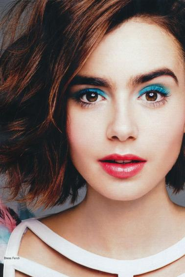 LILY COLLINS POUR GLAMOUR MAGAZINE