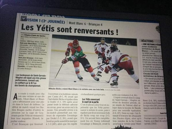 Bravo Les Yétis  !