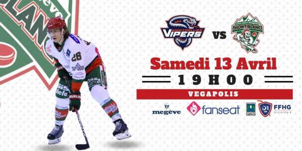 Samedi 13 avril à 19h00 : VIPERS vs YETIS !