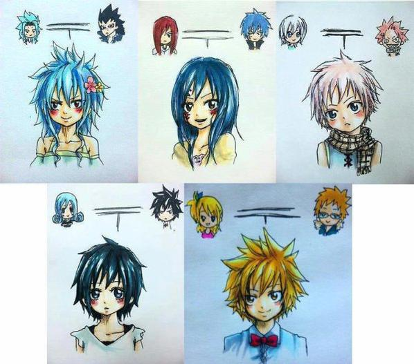 les couples de fairy tail <3
