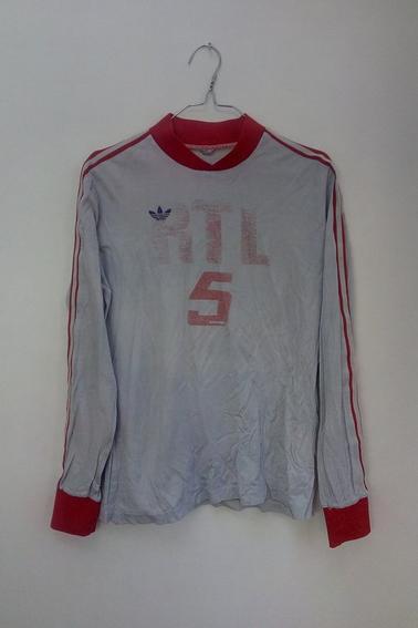 Maillot SC Amiens porté par JL. Delecroix en coupe de France face à Valenciennes durant la saison 74/75