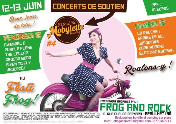 Des Bénévoles attendus demain + Concerts de soutien pour la Fête d'La Mobylette !!!  le 12 et 13 Juin