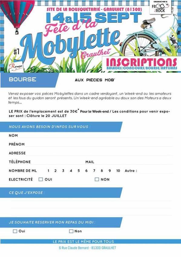 vous souhaitez participer a la bourse de la fete de la mobylette???