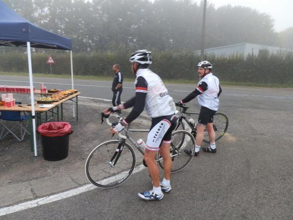 Binche-Chimay-Binche ACB ce 04/10/15 274 participants,un peu de brouillard au début,ensoleillé par la suite