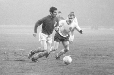 Maillot France porté par Bernard Bosquier contre l'Angleterre à Wembley en 1969