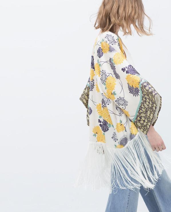 Kimono imprimè Zara