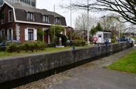 ECLUSE de RIVAGE EN POT (1847) Canal de l'Ourthe à Liège (Angleur)