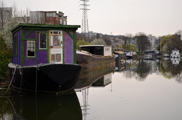 Le Canal de l'Ourthe et ses bateaux-logements...(suite)