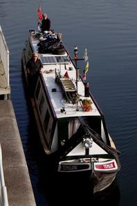 """Le narrow boat """"TEMUJIN""""(GB) & HIPPOPOTAMO (DK) Vaporetto n°42  Venezia (1935) parmi les 9 bateaux de la journée..."""