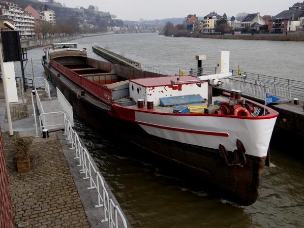 IDUNA (NL), 2è. chargé de fonte entre Rotterdam et Givet. - ISOLA D'ISCHIA (B) Mons, au repos dominical avec 1122t. de cellulose de Givet.