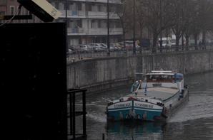 """L'OMBRAGE"""" (NL) Moerdijk, > Un long voyage pour ce Michiels de 1966, +-1200 km, 230 écluses, 20 jours, entre Stein (NL) et Arles (F) avec 230t. d'engrais à l'enfoncement de 1,80m. - Une classe exemplaire, la 6è.primaire de Sainte-Marguerite Bouge clôture la 1ère semaine des visites scolaires dans le cadre des JWE.  ;)"""
