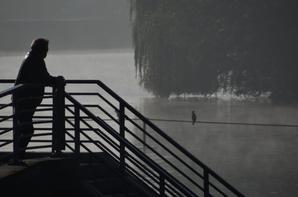 TAMPICO et REVENGE se suivent de très près, juste avant la levée d'un épais brouillard...