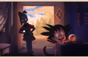 goku et bulma les meilleur  ami