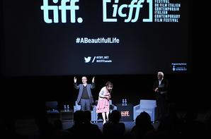 En conversation avec Roberto Benigni et Nicoletta Braschi au TIFF Bell Lightbox le 5 Juin, 2015 Toronto, Canada.