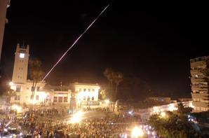 Hier soir Célébration de la victoire de l'Algérie