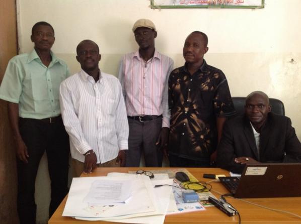 Personnel de L'Inspection Départementale de L'éducation de GOUDOMP nos partenaires sénégalais pour la lutte contre l'analphabétisme