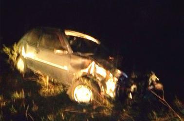 L'état de ma voiture... Merci ma bonne étoile de m'avoir gardé en vie....