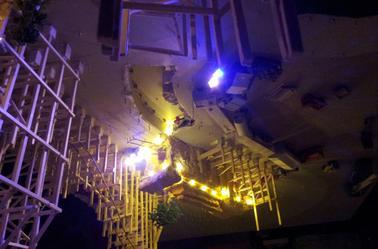 Avancé de l'eclairage surtout au niveau du tunnel