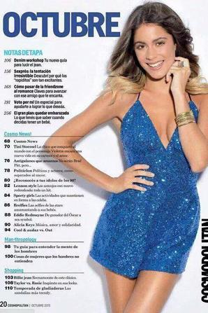 L'Article sur Tini dans le Cosmo Argentina d'Octobre