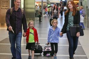 .Photos: 15/08/13: Marcia et sa famille quittent l'aéroport de Los Angeles pour Paris