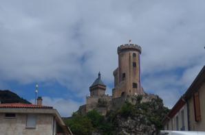 chateau de foix lors du tour de france 2017 le 14 07 2017