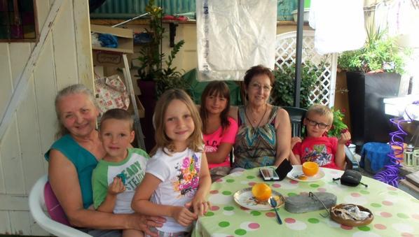 du bon temps cet été avec mes petits enfants