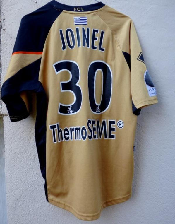 MAILLOT THIRD FC LORIENT 2008-2009 Alban JOINEL
